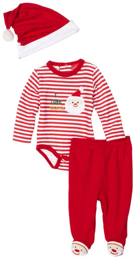 Carters Unisex-Baby Newborn I Love Santa Three Piece Dress Set