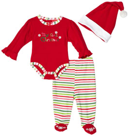 Carters Unisex-Baby Newborn Snowflake Three Piece Dress Set
