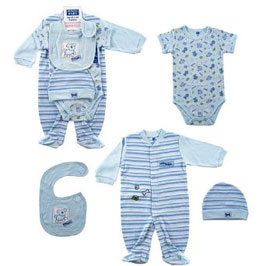 4 piece little doggie layette set