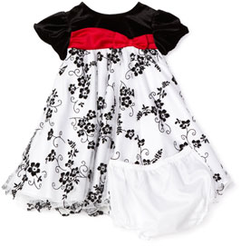 rare edition baby girls infant embroidered wire hem dress