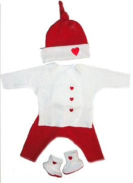 Valentine Hearts Baby Clothing Set